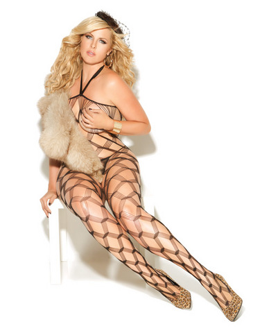 Vivace diamond net bodystockings black qn