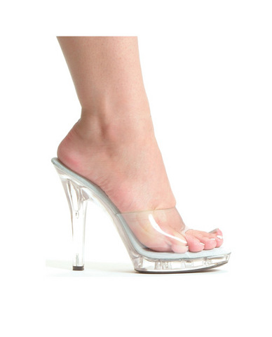 Ellie shoes, m-vanity 5in pump clear eight