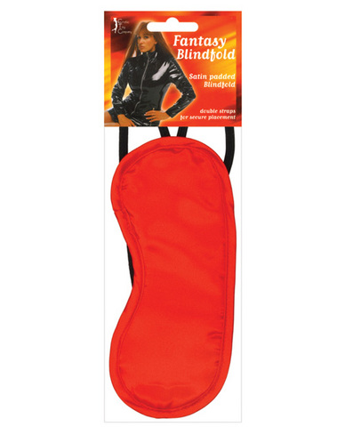 Satin Blindfold 2 Strap - Red