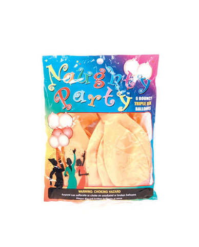 Naughty party balloons boobie - flesh