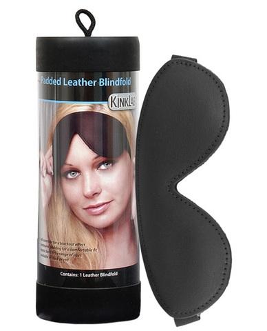 Kinklab padded leather blindfold