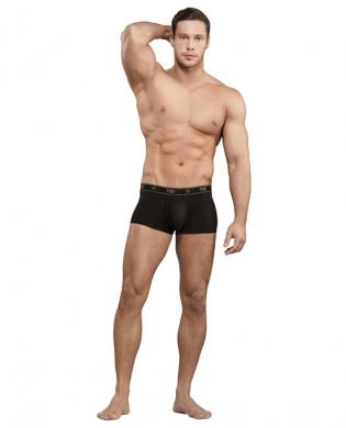 Bamboo low rise pouch enhancer short black sm