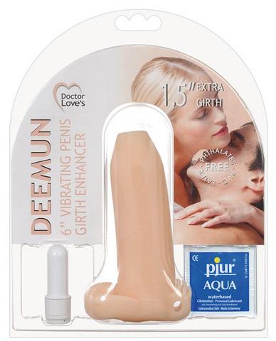 Deemun Vibrating Penis Girth Enhancer 1.5 inch