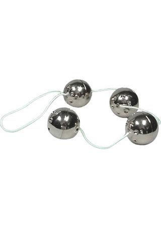 Ben Wa Balls On A String - Silver