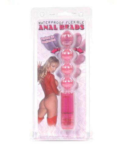 Waterproof Flexible Anal Beads Pink