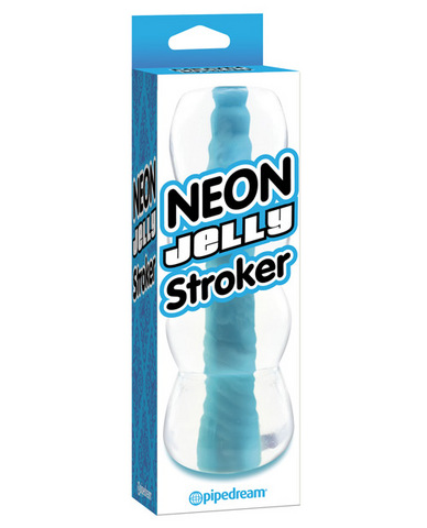 Neon luv touch jelly stroker - blue