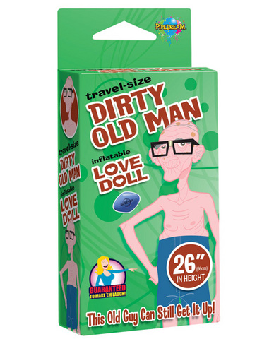 26in travel-size dirty old man love doll