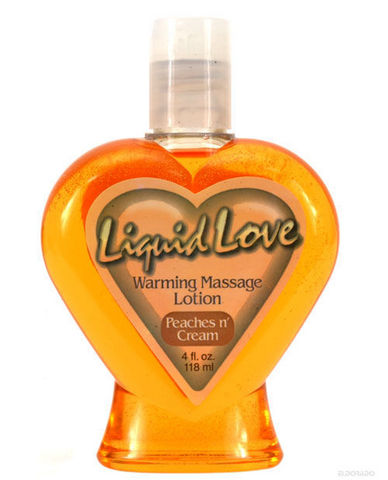 Liquid Love Warming Massage Lotion Peaches N Cream 4oz