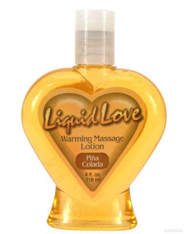 Liquid Love Warming Massage Lotion Pina Colada 4oz