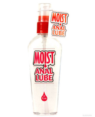 Moist Water Based Anal Lube 4 Ounce Pump