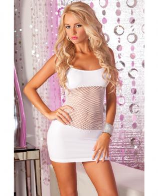 Pink lipstick adrenaline seamless net dress white o/s