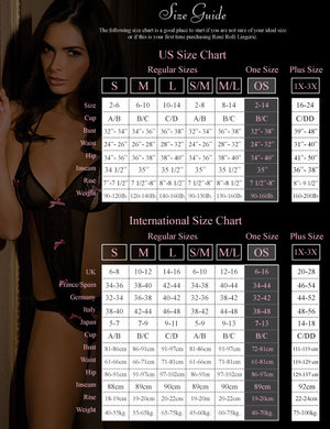 Rene rofe floral lace bodystocking black o/s