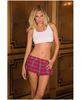 Rene rofe school girl mini skirt plaid pink sm