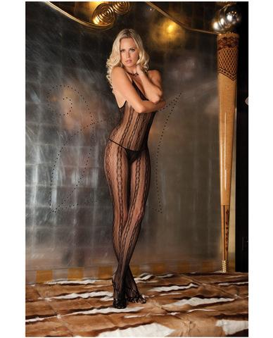 Rene rofe sedcutive lace bodystocking black o/s