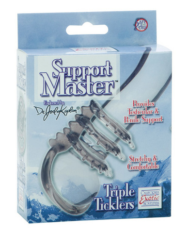 Support Master Triple Ticklers Cock Ring - Smoke