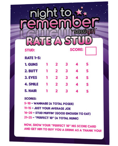 Night to remember stud rating cards by sassigirl