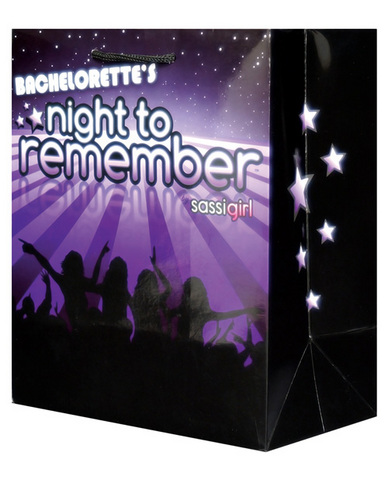 Bachelorette night to remember gift bag by sassi girl