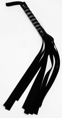 Sex & Mischief Red and Black Stripe Flogger