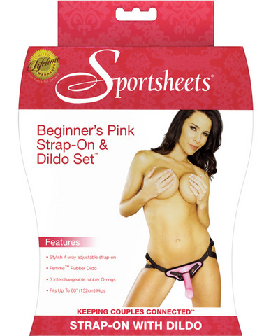 Sedeux Beginners Harness And Dildo Set - Pink