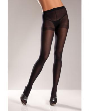 Opaque Nylon Pantyhose Black O/S