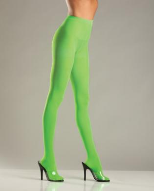 Opaque Nylon Pantyhose Green O/S
