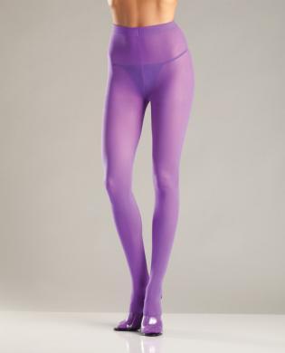 Opaque Nylon Pantyhose Purple QN