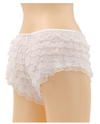 Be wicked ruffle hot pants white x-large