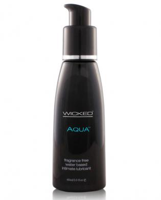 Wicked sensual care collection fragrance free 2 oz lubricant - aqua - waterbased