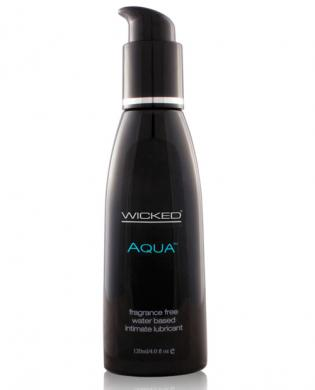 Wicked sensual care collection fragrance free 4 oz lubricant - aqua - waterbased