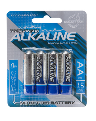 Doc Johnson Alkaline Batteries - 4 Pack AA