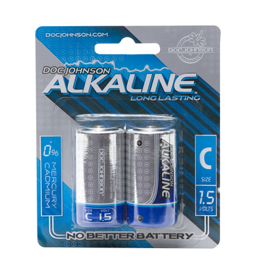 Doc Johnson Alkaline Batteries - 2 Pack C