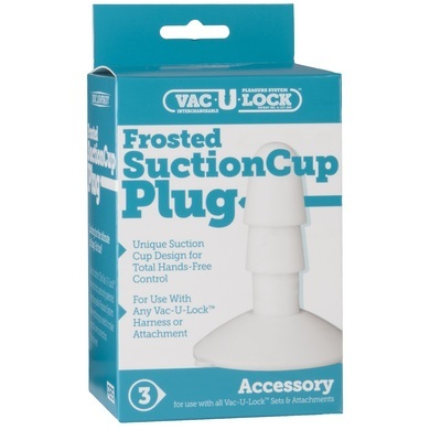 Vac-U-Lock Frosted Suction Cup Plug White