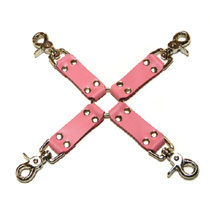 Pink Bound Leather Hog Tie