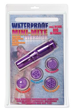 Waterproof Mini Mite Massager Purple Pocket Rocket