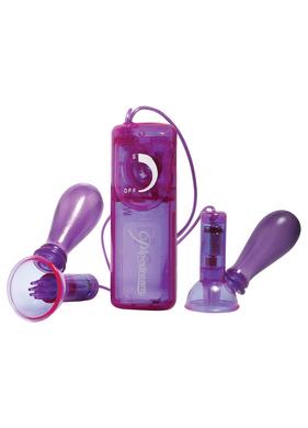 Vibrating Nipple Pumps Purple