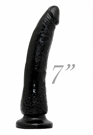 Plus Size Crotchless Corset Strap On 7 Inch - Black