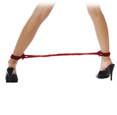 Fetish Fantasy Silk Rope Love Cuffs Red