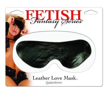 Fetish Fantasy Leather Love Mask Black O/S