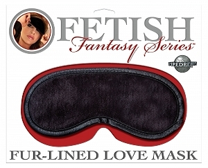 Fetish Fantasy Fur Lined Love Mask Black O/S