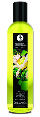 Shunga Organica Erotic Massage Oil Exotic Green Tea 8oz