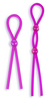 Silicone Cock Ties Cockring - Purple 2129-01thmb