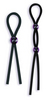 Silicone Cock Ties Cockring - Black 2129-02thmb