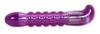 Acrylic Smooth Groove G-Spot Vibrator -Purple 5654-01thmb