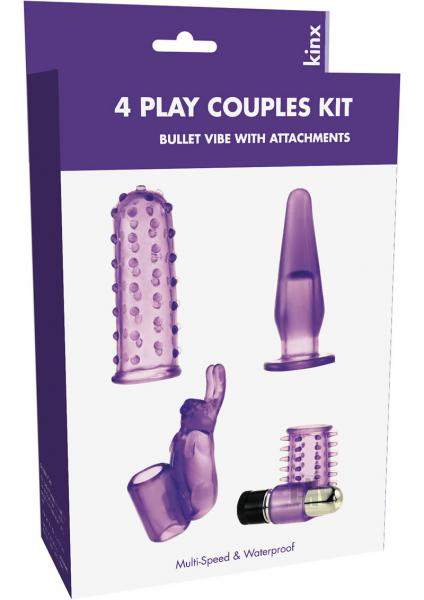 4 Play Couples Kit Bullet Vibe Kinx