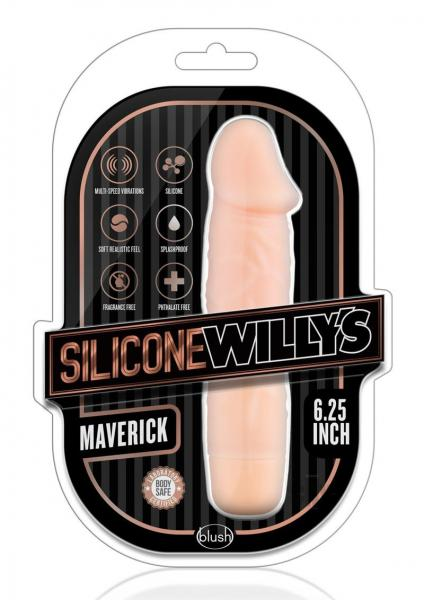 Silicone Willy's Maverick 6.25 inches Vibrating Dildo Beige