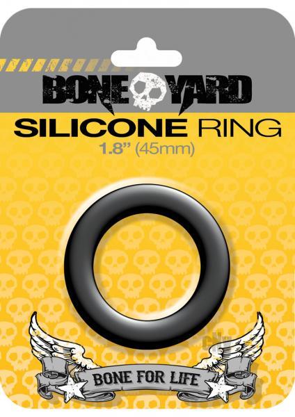Boneyard Silicone Ring 1.8 inches Black