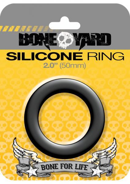 Boneyard Silicone Ring 2 inches Black