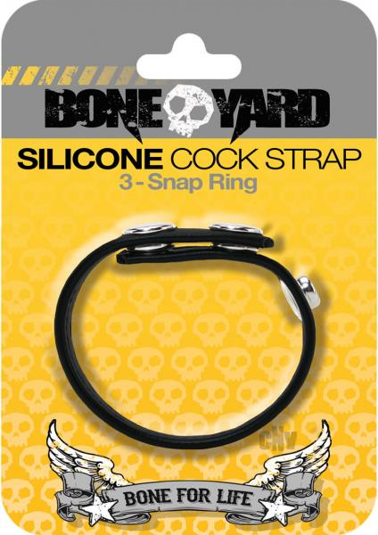 Boneyard Silicone Cock Strap Black