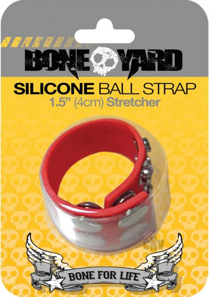 Boneyard Silicone Ball Strap Red