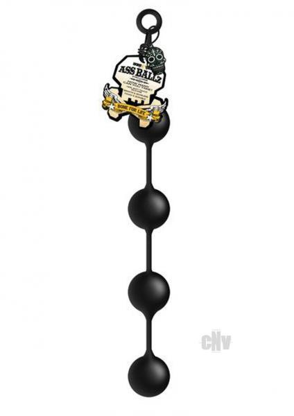 Ass Ballz Extra Large Black Anal Beads